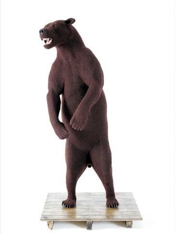 Crochetdermy bear, Shauna Richardson