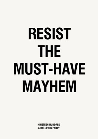 Resist the Must-Have Mayhem
