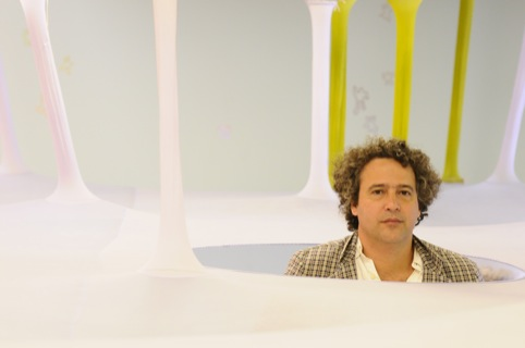 Ernesto Neto in his Hayward GAllery exhibition The Edges of the World