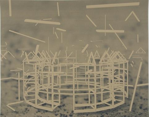 George Eksts - Untitled, Screenprint, 2011