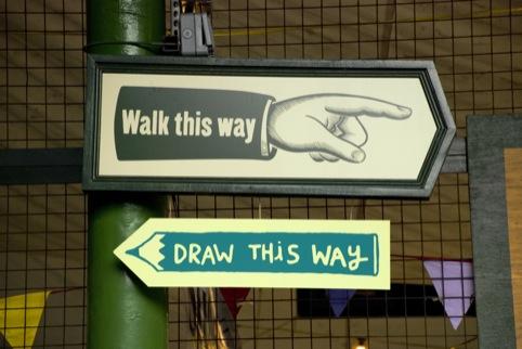 walk this way, draw this way