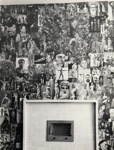 Library wallpaper 1962