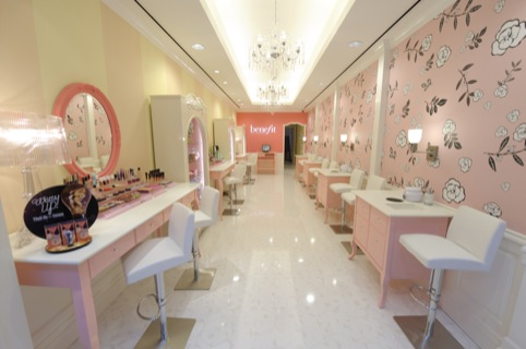 Benefit Boutique in  Soho, New York, which features similar interiors to the forthcoming Norwich concession