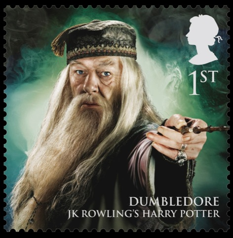 Dumbledore stamp from the Magical Realms range, designed by So Design Consultants
