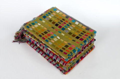 Holly Berry Handwoven Cashmere Blankets  Wraps