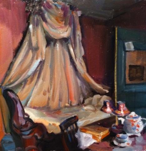 Olha Pryymak,  Elizabeth Jervis bedroom at Eleven Spitalfields