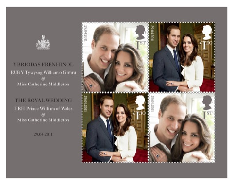 Royal Wedding stamps, designed by Atelier Works