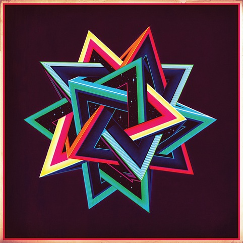 Tetrahedron print by Sam Chivere, Soma Gallery