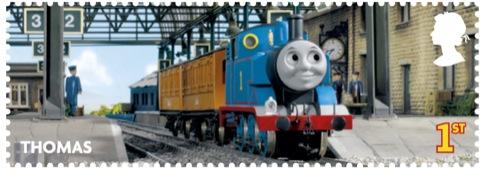Thomas the Tank Engine stamp, designed by Elmwood