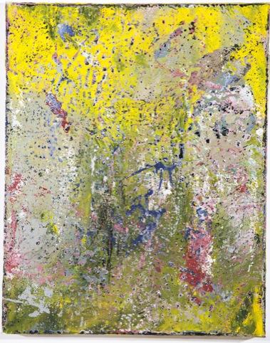 Waplington's Ariel oil and metallic on canvas