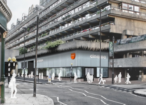 Barbican Centre Chiswell Street approach