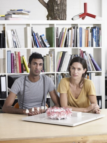 Pernilla and Asif with the model