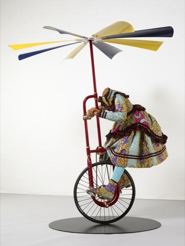 Girl on Flying Machine Mannequin, Yinka Shonibare, 2008