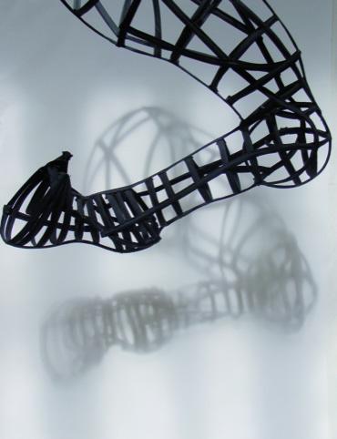 Leg Black ribbons and stays Tia-Calli Borlase 2011