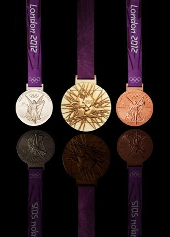 The Olympic medals, designed by David Watkins