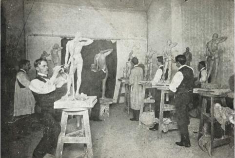 Goldsmiths students circa 1900