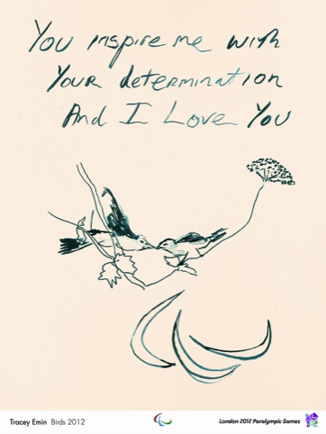 Olympic poster Birds, by Tracey Emin