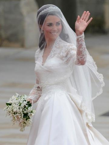 The Duchess of Cambridge's wedding dress, by Sarah Burton