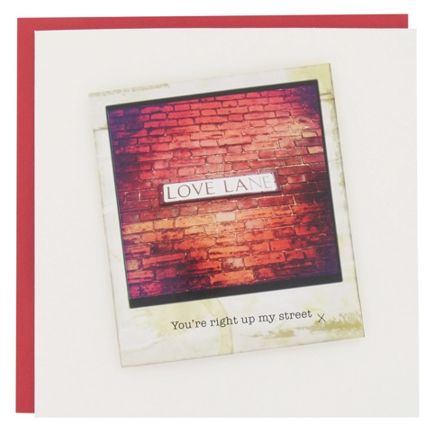 Love Lane Valentine's Card - 'You're right up my street x' by Victoria Galtrey at LCC