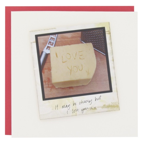 Love lane Valentine's card - 'It may be cheesy but I love you xx'  by Hannah Jennings at LCC