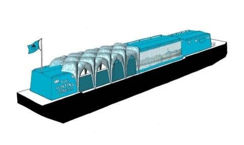 Floating Cinema for Portavilion by Studio Weave