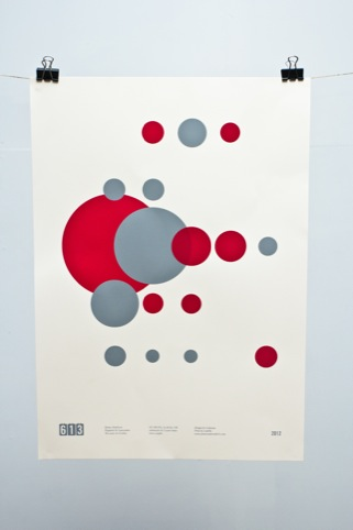 Screen printed poster by One69a