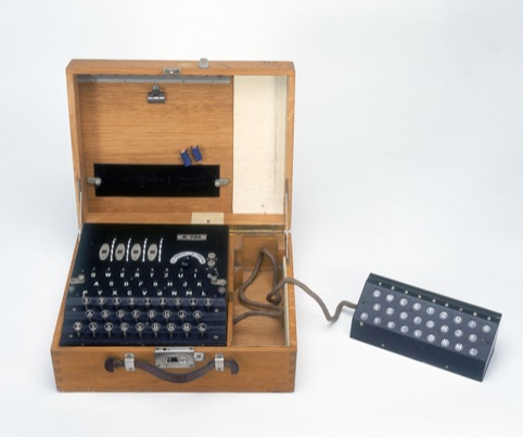 Four rotor Enigma cypher machine credit (Science Society Picture Library)