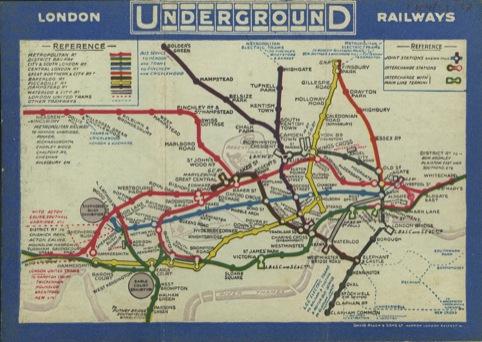 Pocket Underground map 1913.