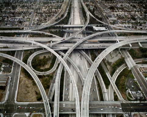 Edward Burtynsky Highway #1, Intersection 105 and 110, Los Angeles, California, USA 2003