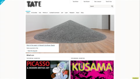 Tate site in Beta
