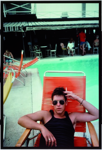 NAN GOLDIN, David by the Pool at the Back Room, Provincetown, 1976, 1976