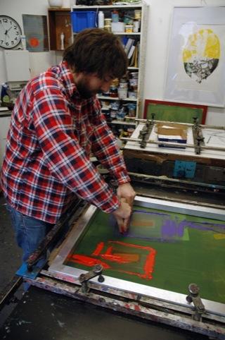 Screen printing the zine