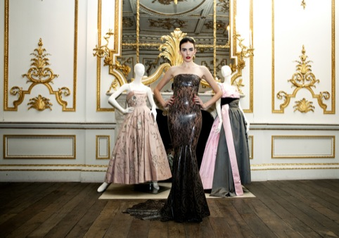 Atsuko Kudo, worn by Georgia Frost with dresses by Hardy Amies and Worth of London, 2011