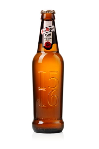 The new bottle mirrors the curve of the San Miguel logo