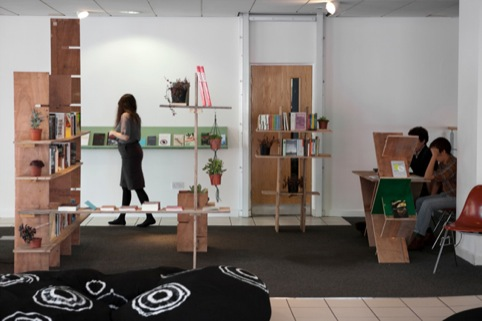 Charlie Woolley, Book shop and bean bags, We have out own concept of time and motion, Auto Italia South East, 2011.
