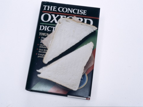 Oxford Dictonary And Ham Sandwich, Printed Oxford English Dictionary, Elizabeth Wright 2000