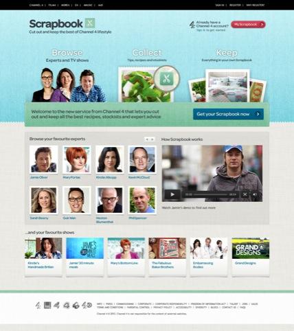 Scrapbook homepage