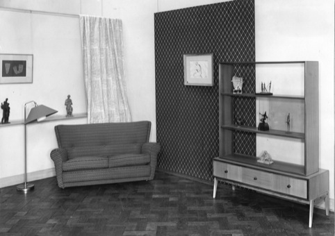Sculpture in the Home Exhibition of works from Arts Council Collection New Burleigh Gardens London 1953 featuring Kenneth Armitage