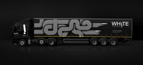 Truck livery featuring puzzle