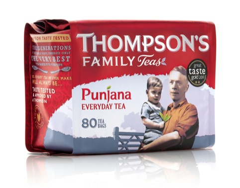 Thompson's Tea packaging
