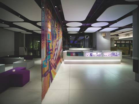 Yotel New York, by Rockwell Group in collaboration with Softroom