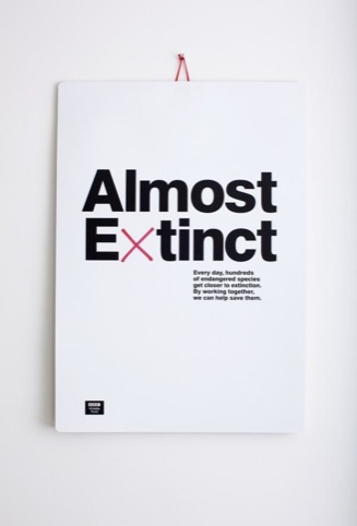 Almost Extinct, for BBC Wildlife Fund, by The Chase