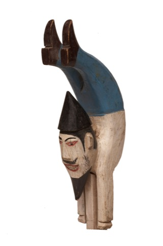 Acrobatic Clown, Painted on Wood, late 19th/early 20th Century