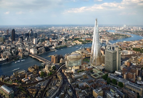 View of the Shard, looking north