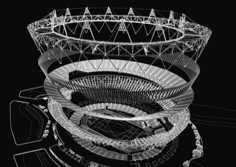Olympic Stadium exploded diagram