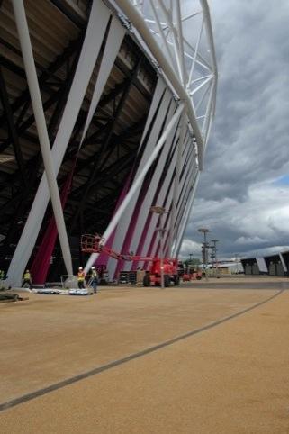 Olympic Stadium with wrap