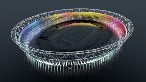 The London 2012 Olympic Games stadium wrap