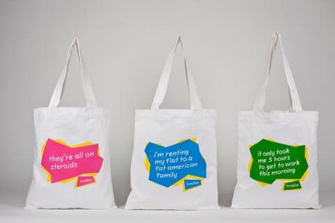 Tobatron's tote bags