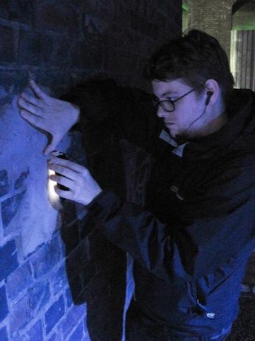 Mr Underwood's Sonic Graffiti installation in action