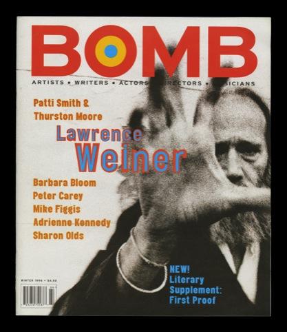 Bomb magazine, winter 1996
